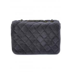 Retro Chains Velour Quilted Bag -