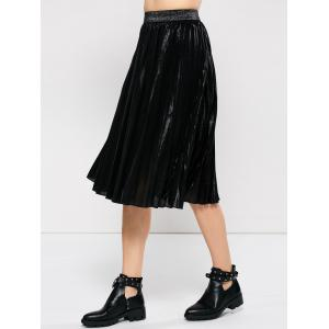 Pleated Tea Length Skirt -