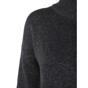 Mock Neck Loose Sweater - BLACK ONE SIZE