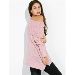 Convertible Collar Asymmetric Sweater -