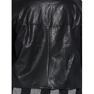 Zippé Plus Size Faux Leather Jacket -