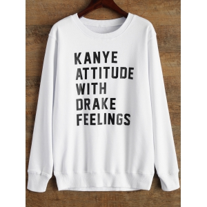 Crew Neck Graphic Funny Sweatshirt