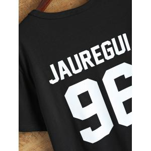 Jewel Neck Jauregui 96 T Shirt - BLACK L