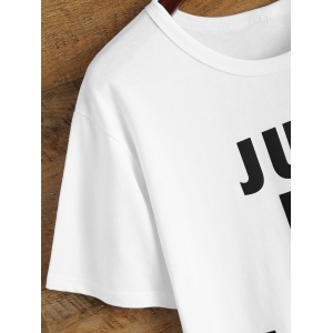 Just Do It Later Short Sleeve T Shirt - WHITE L
