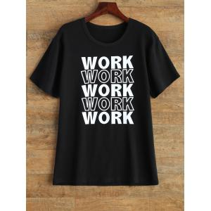 Streetwear Jewel Neck Work Graphic T Shirt