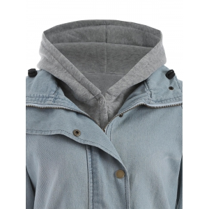 Hooded Waistcoat and Denim Jacket Twinset -