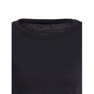 Lace Up Long Sleeve T-Shirt - BLACK XL