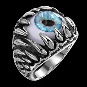 Tooth Eye Punk Alloy Ring - SILVER 10