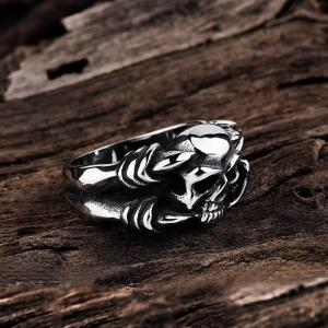 Diable Skull Alloy Bague Sculpture -