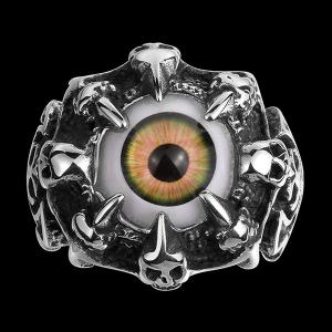 Skull Eye Claw Alloy Ring - Silver - 11