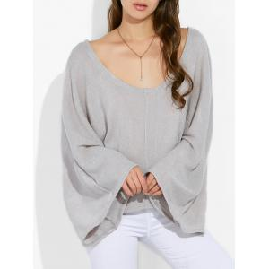 Scoop Neck Loose Knitwear