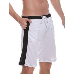 Pocket Drawstring Side Panel Bermuda Shorts -