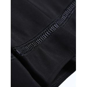 Hollow Out Insert Pleated Skirt -