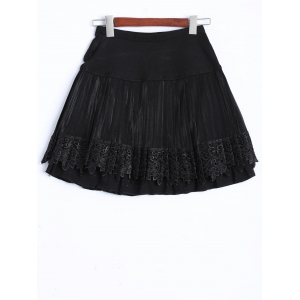 Key Chain Openwork Lace Mini Skirt -