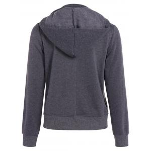 Hooded Long Sleeve Peacoat - GRAY 2XL