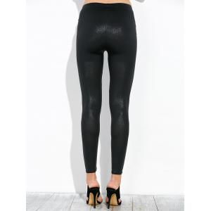 High Waist Footless Leggings - BLACK ONE SIZE