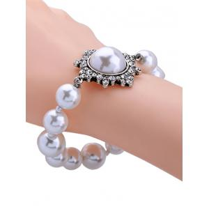 Vintage Artificial Pearl Beaded Bracelet -