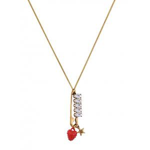 Rhinestone Star Strawberry Sweater Chain -