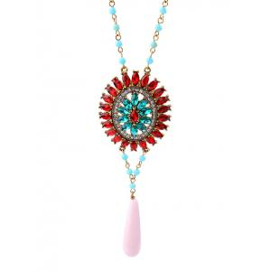 Bohemian Rhinestone Flower Beaded Sweater Chain -