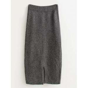 High Waist Midi Sweater Pencil Skirt