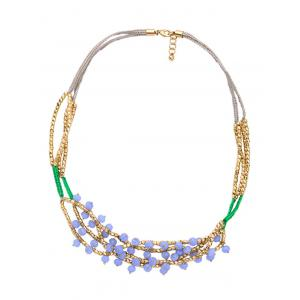 Bohemian Braid Glass Beaded Necklace - COLORMIX