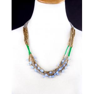 Bohemian Braid Glass Beaded Necklace
