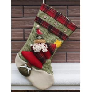 Christmas Santa Hanging Kids Candy Present Sock Party Decor - Green