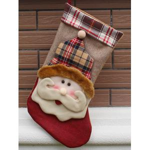 Christmas Santa Hanging Stocking Decoration Present Bag Sock - Colormix