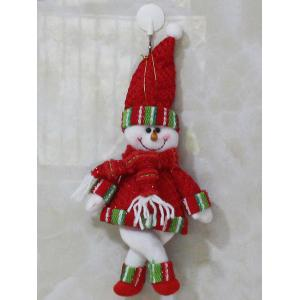 Christmas Gift Snowman Pendant Xmas Tree Decoration - Red