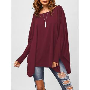 Drop Shoulder Side Slit Smock Tee