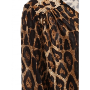 High-Low Leopard Loose Blouse -