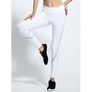 High Waist Mesh Insert Yoga Running Leggings