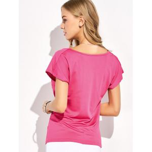 Sequin Embellished Ruched T-Shirt -