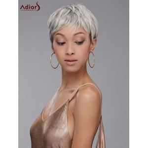 Adiors Hair Short Full Bang Mixed Color Straight Synthetic Wig