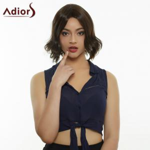 Adiors Hair Short Centre Parting Straight Synthetic Wig - Black