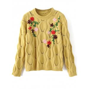 Cut Out Floral Vintage Sweater