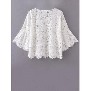 Flare Sleeve Lace Loose Blouse -