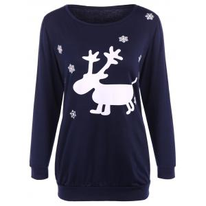 Fawn Patterned Christmas Tee