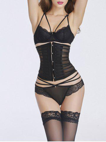 Hot Hook Up Mesh Underbust Corset