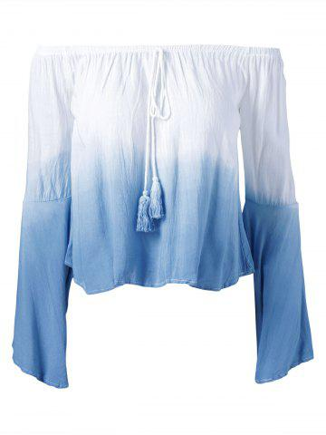Cheap Ombre Color Off The Shoulder Blouse