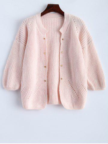 Sale Studded Chunky Cardigan PINK ONE SIZE