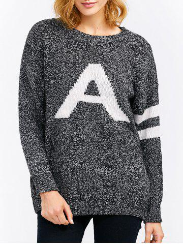 Affordable A Letter Pullover Sweater