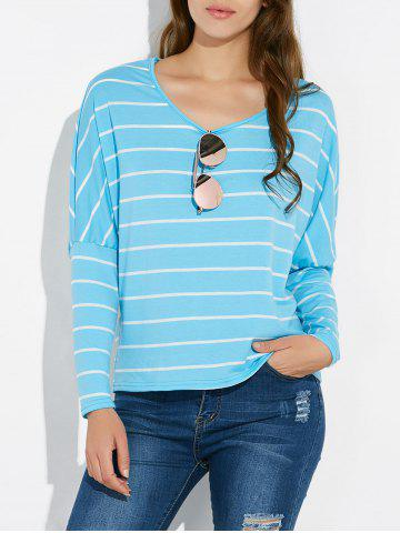 Shops Batwing Sleeve Striped Tee