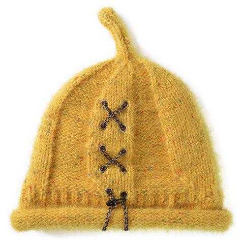 Shop Warm Criss Cross Chain Woolen Yarn Hat