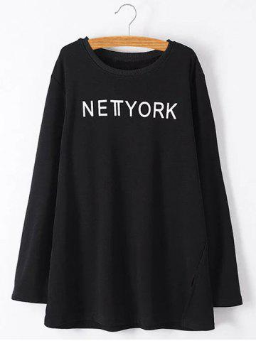 Sale Plus Size York Letter Furcal Sweatshirt