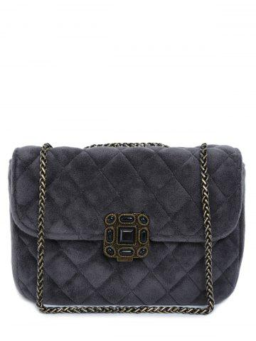 Hot Retro Chains Velour Quilted Bag