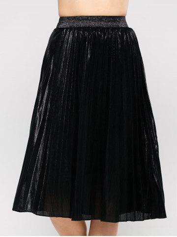 Fashion Pleated Tea Length Skirt