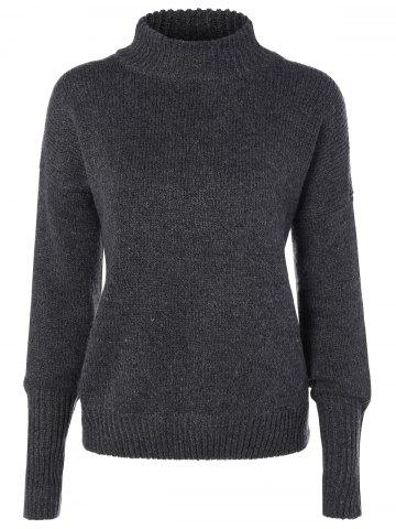 Outfits Mock Neck Loose Sweater