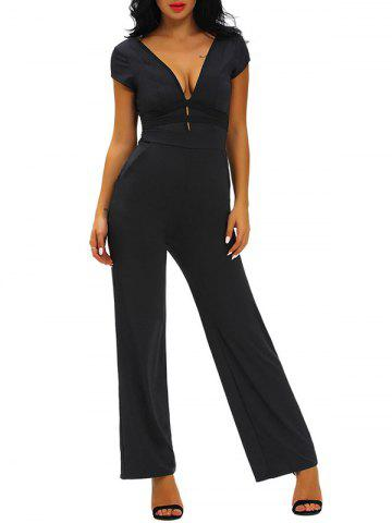 Trendy Skinny Plunging Neckline Backless Jumpsuit
