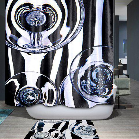 Discount Waterproof Polyester Printing Bath Shower Curtain